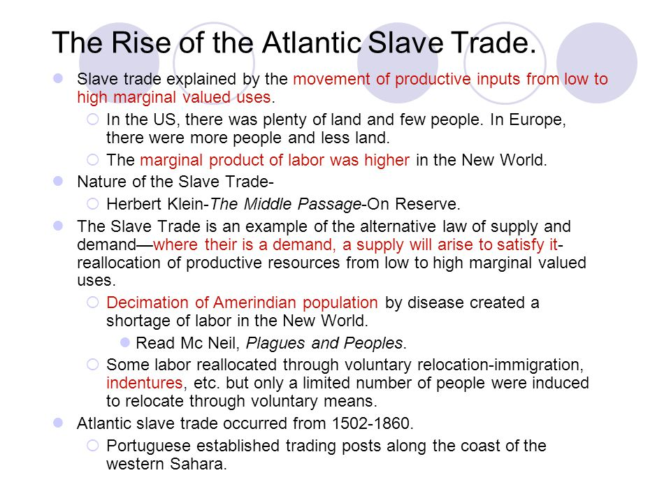 The Rise of the Atlantic Slave Trade.
