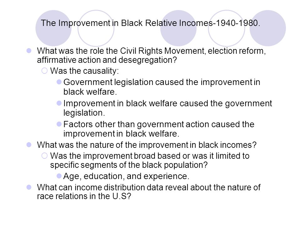 The Improvement in Black Relative Incomes-1940-1980.