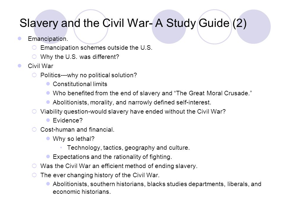 Slavery and the Civil War- A Study Guide (2)