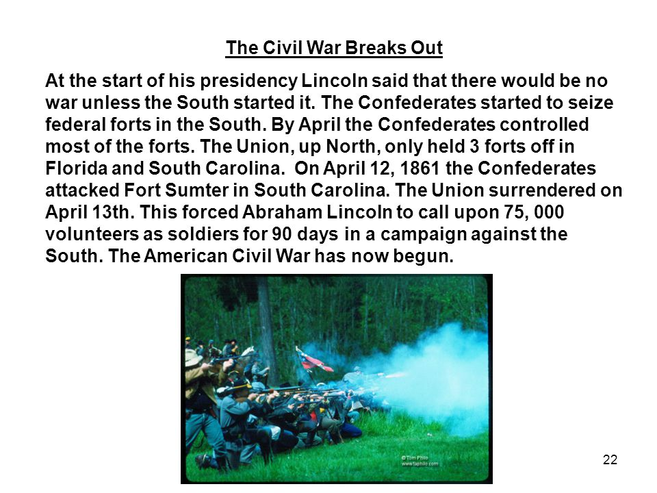 The Civil War Breaks Out