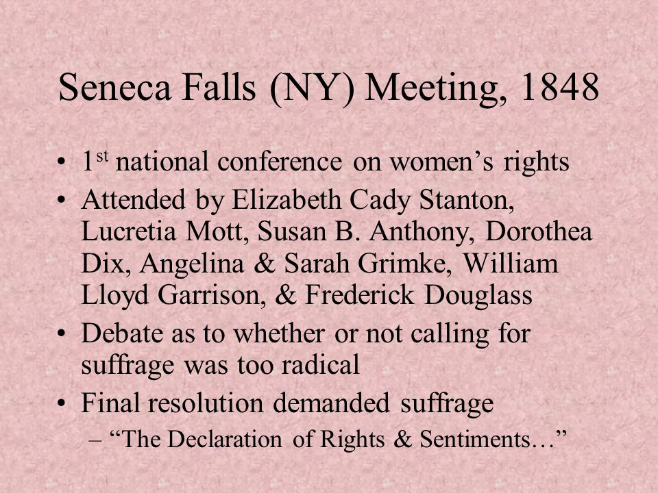 Seneca Falls (NY) Meeting, 1848