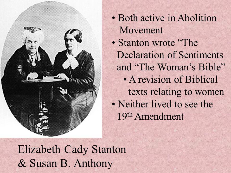 Elizabeth Cady Stanton & Susan B. Anthony