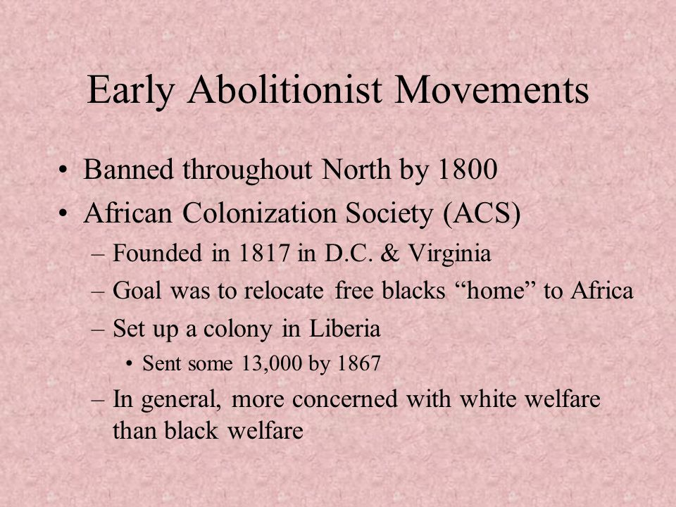 Early Abolitionist Movements