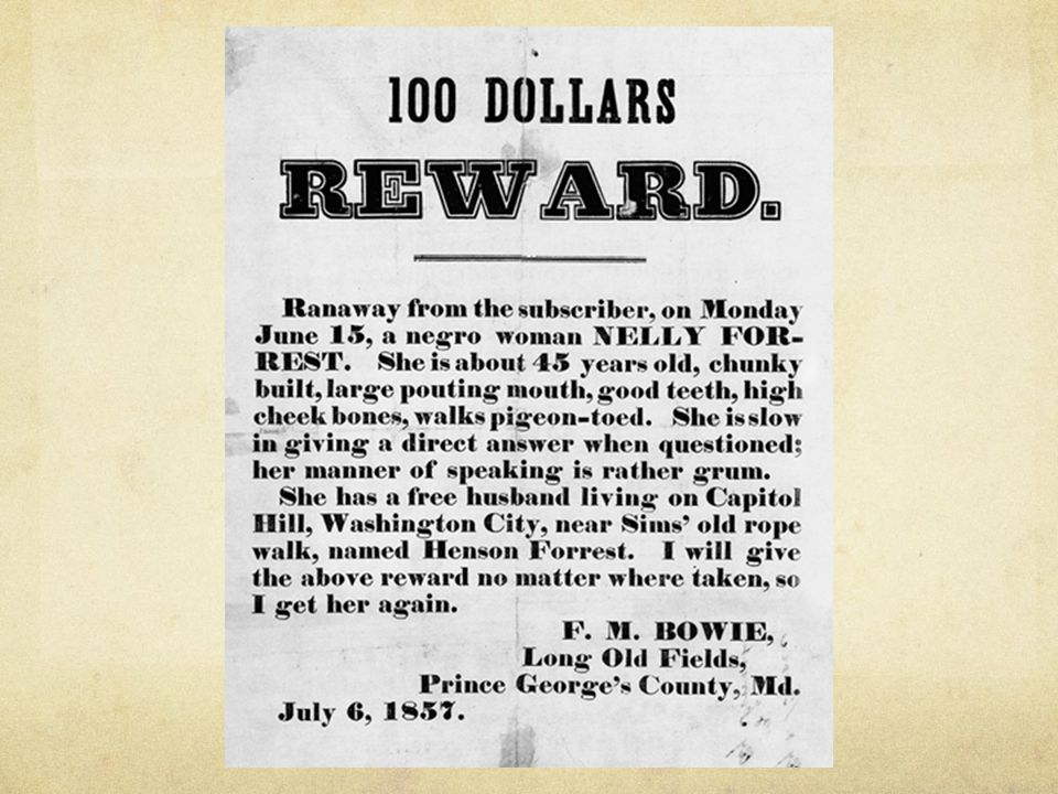 Ch. 11, Image 21 A typical broadside offering a reward for the capture of a runaway slave. Give Me Liberty!: An American History, 2nd Edition.