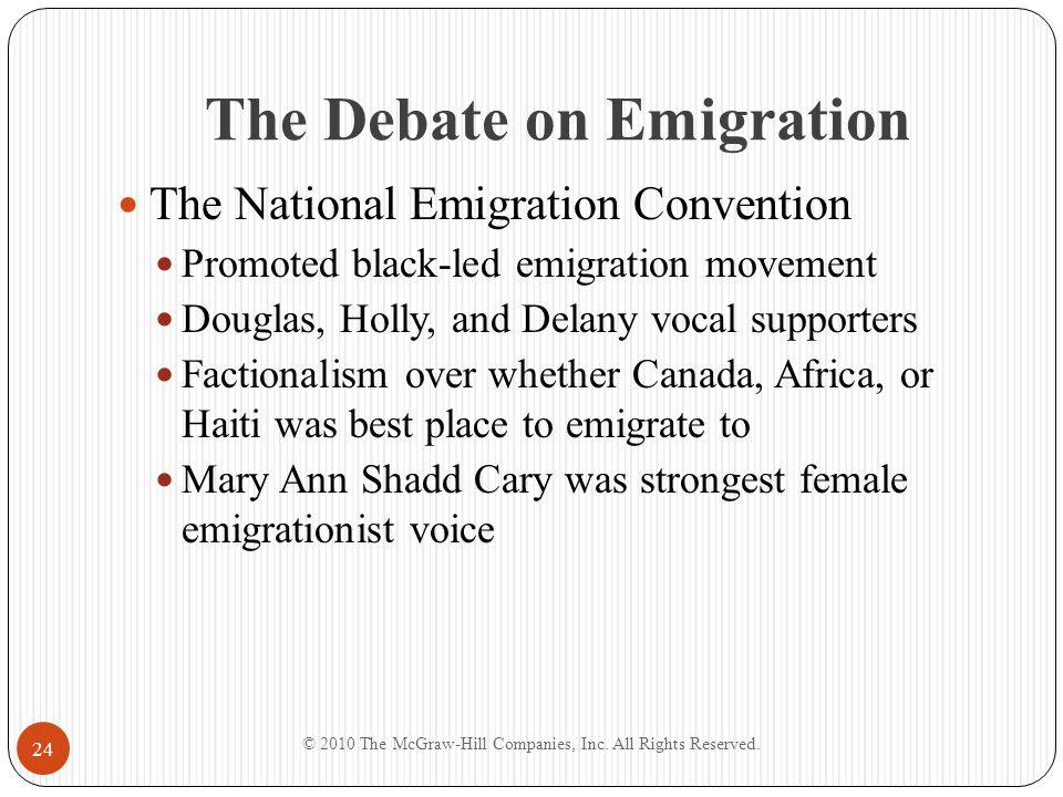 The Debate on Emigration