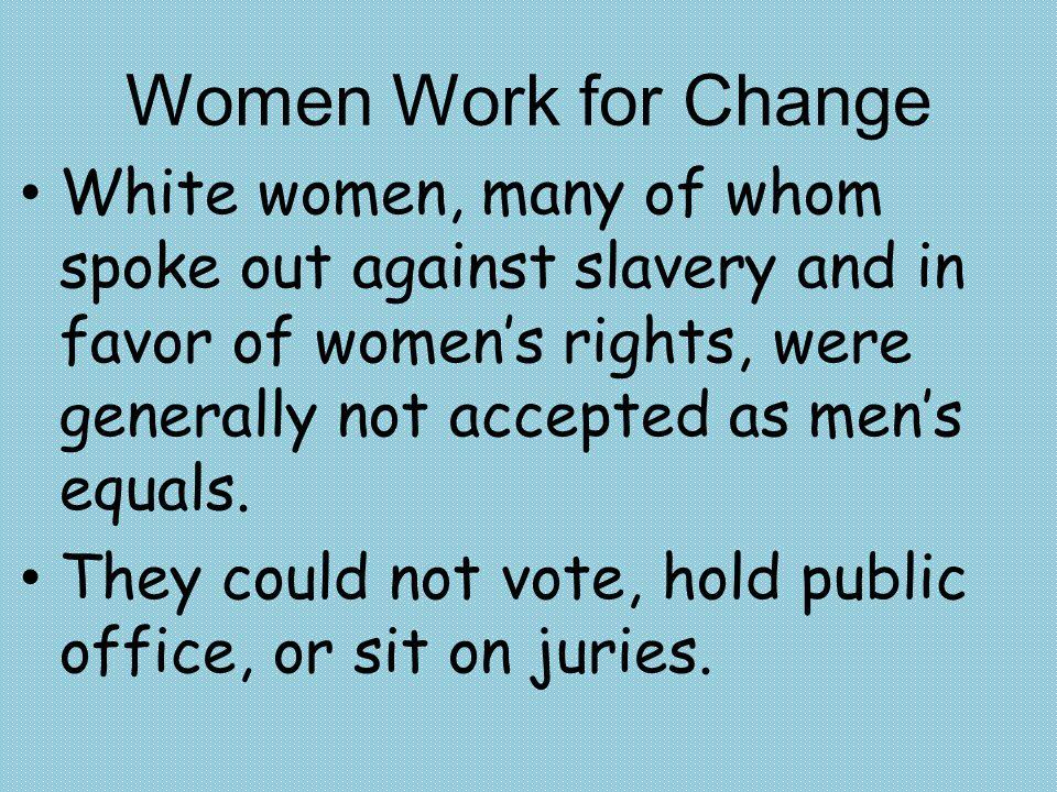 Women Work for Change