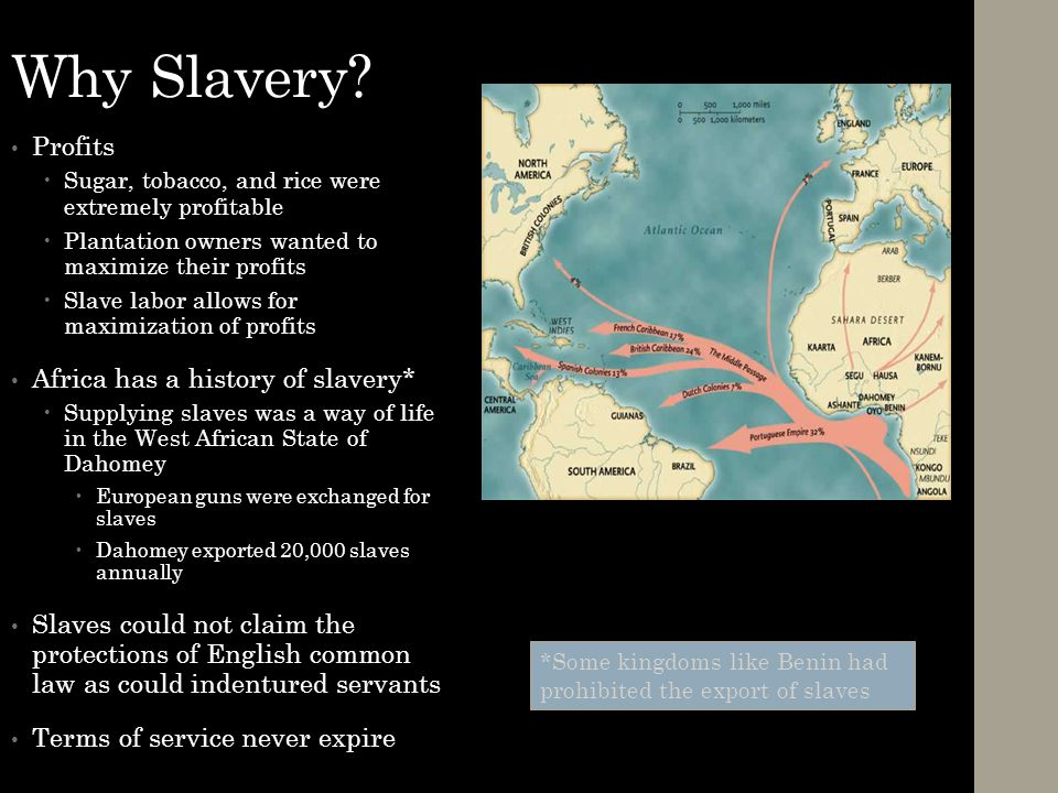 Why Slavery Profits Africa has a history of slavery*