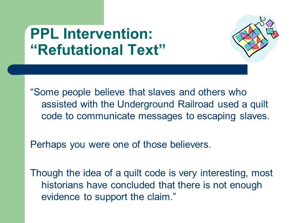 PPL Intervention: Refutational Text