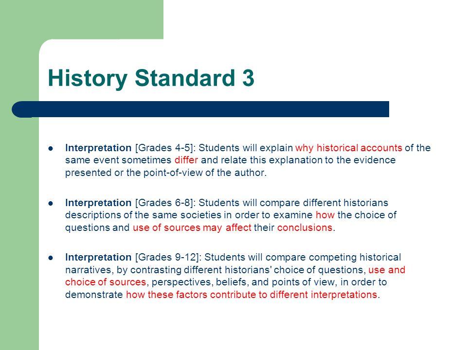 History Standard 3