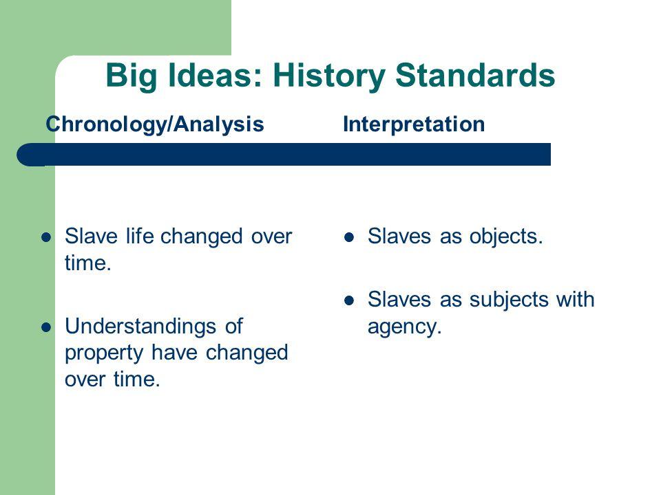 Big Ideas: History Standards