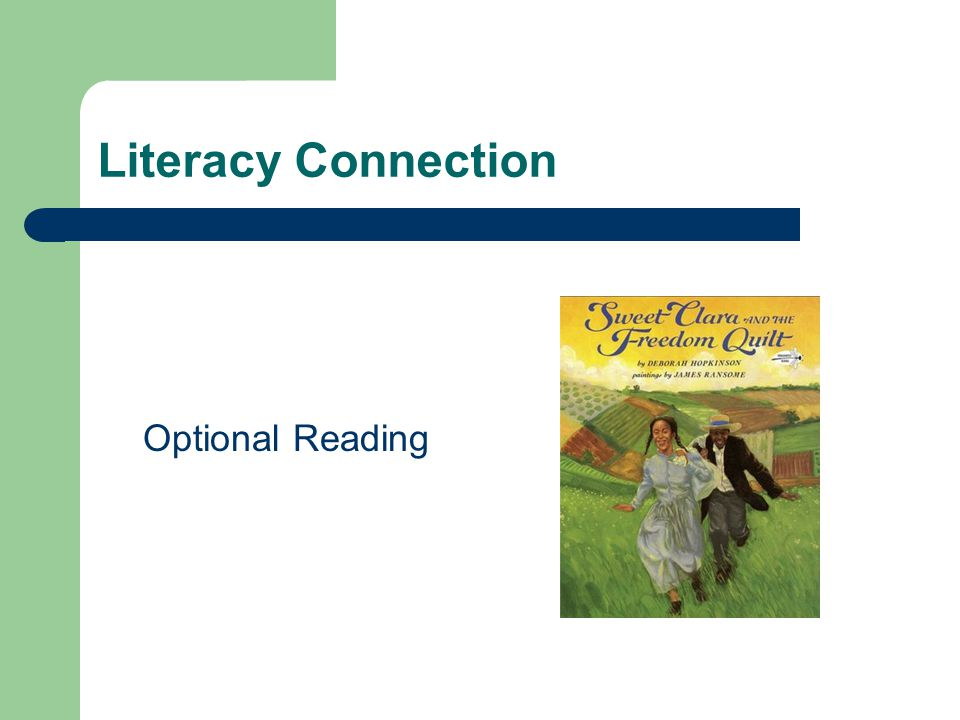 Literacy Connection Optional Reading