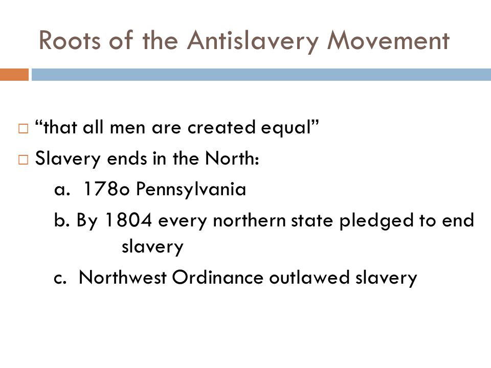 Roots of the Antislavery Movement