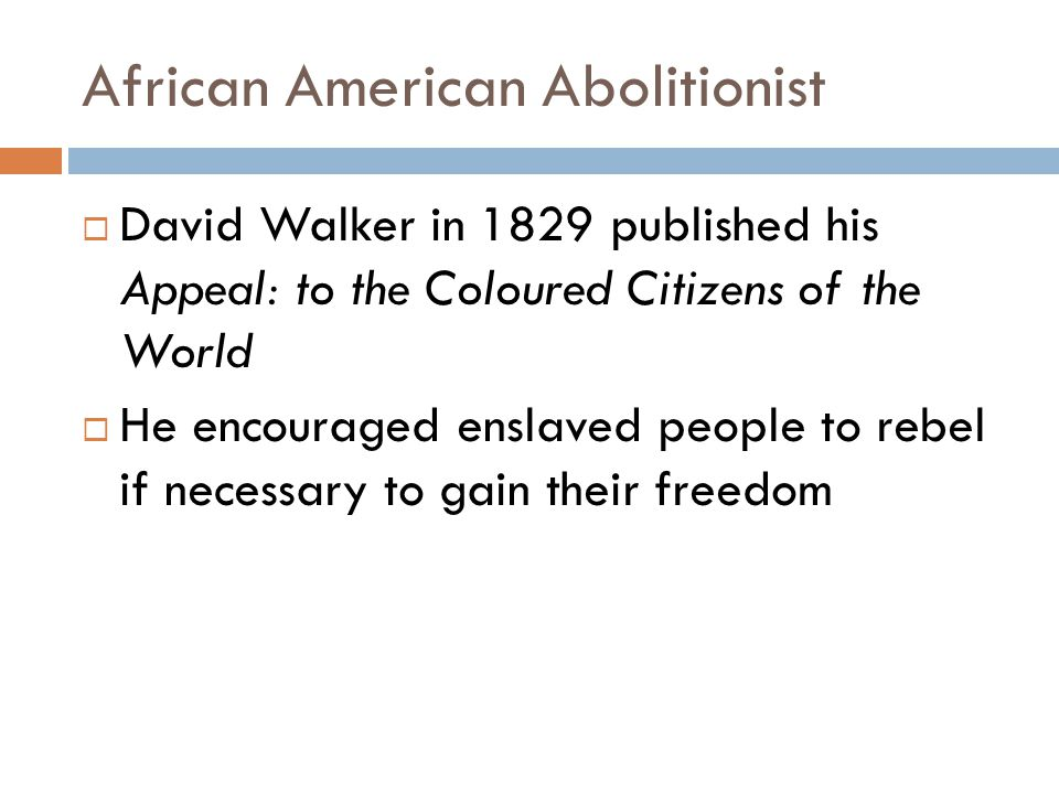 African American Abolitionist