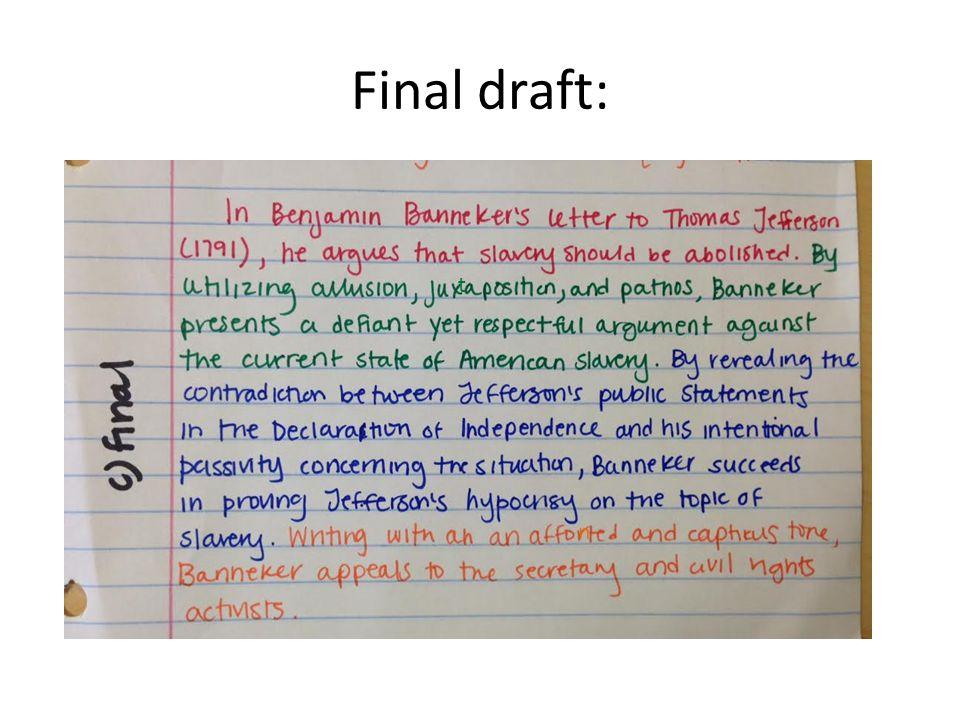 Final draft: t n