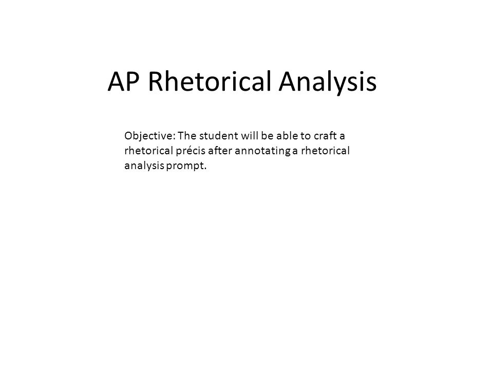 AP Rhetorical Analysis