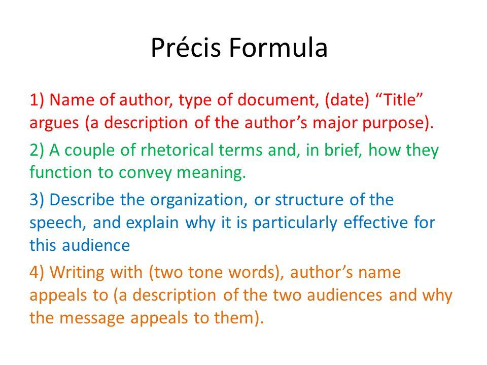 Précis Formula