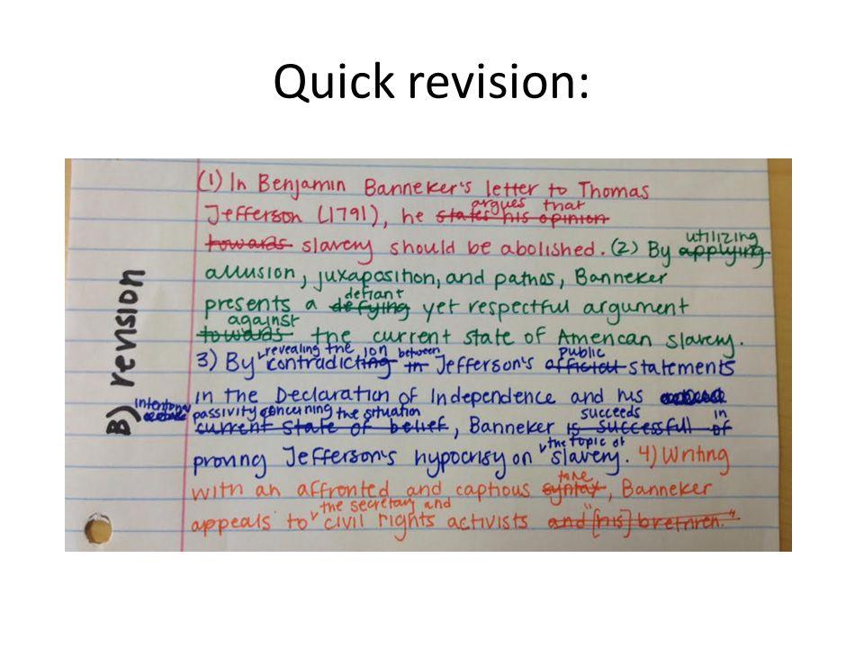 Quick revision:
