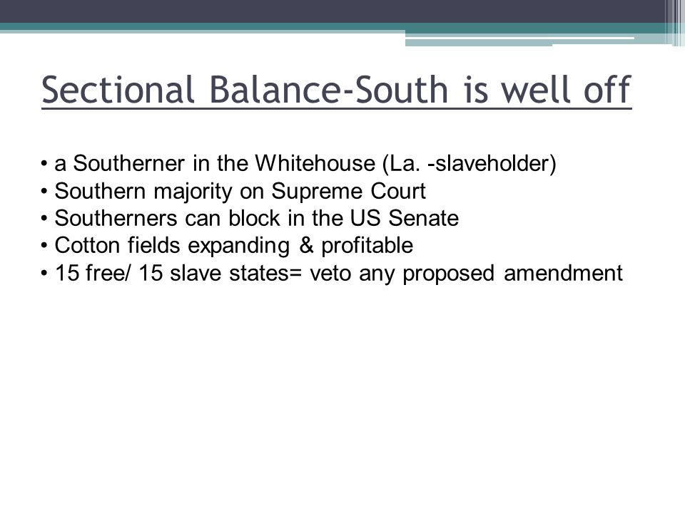 Sectional Balance-South is well off