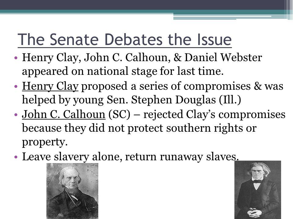 The Senate Debates the Issue