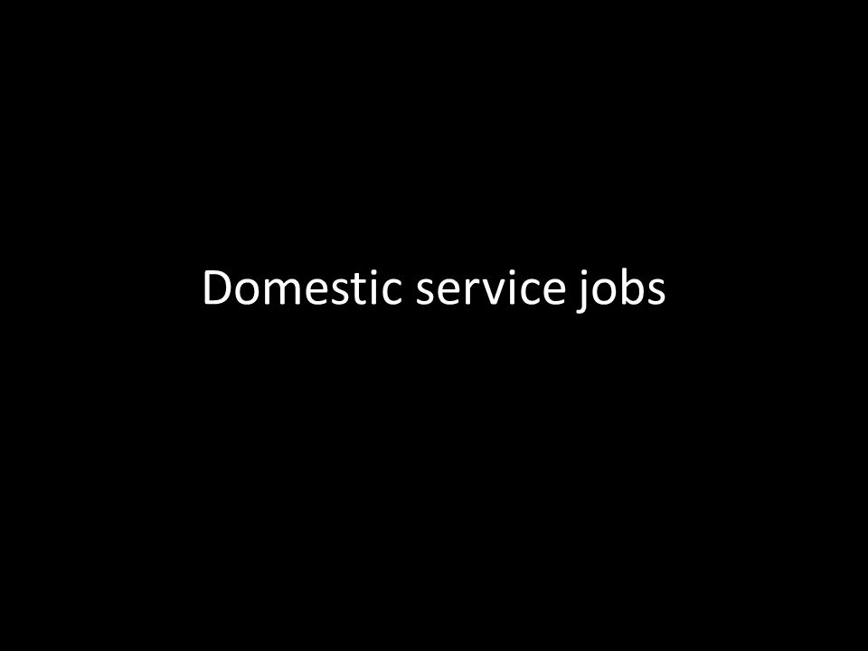 Domestic service jobs