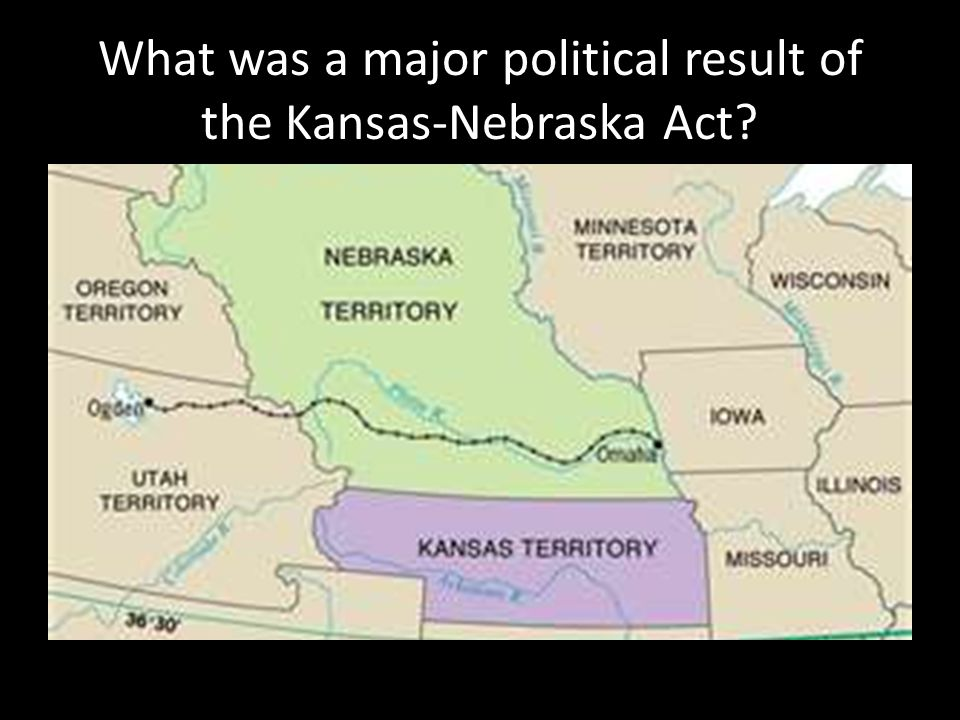 What was a major political result of the Kansas-Nebraska Act