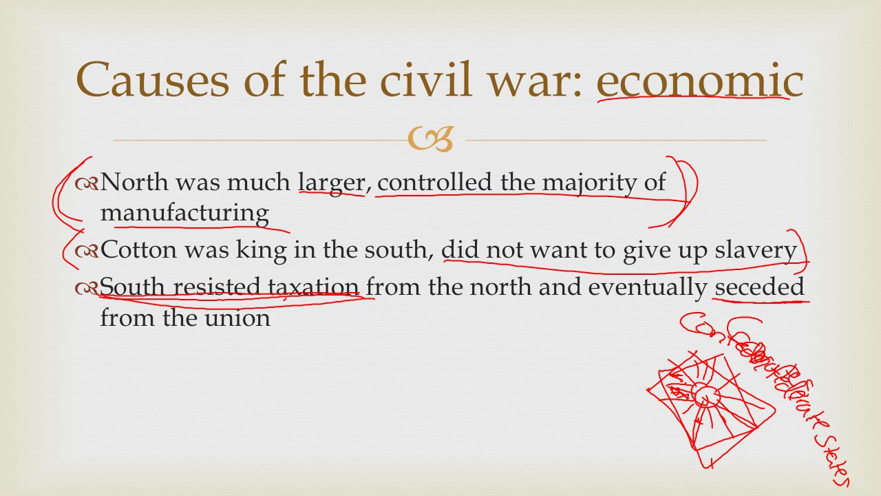 Causes of the civil war: economic