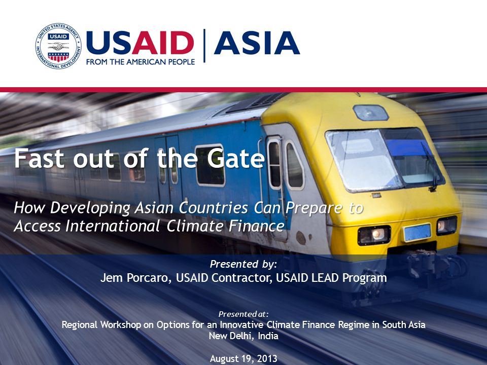 Jem Porcaro, USAID Contractor, USAID LEAD Program