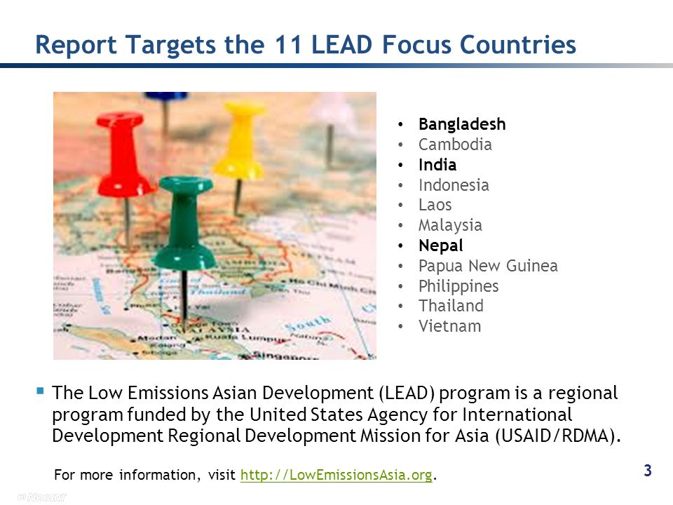 Report Targets the 11 LEAD Focus Countries