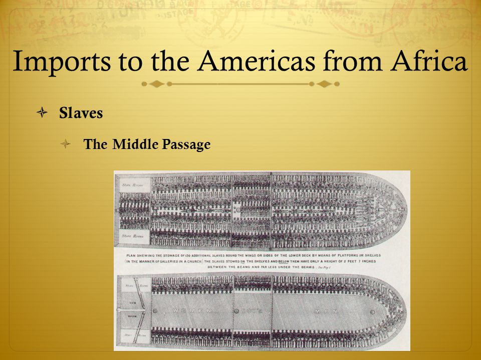 Imports to the Americas from Africa
