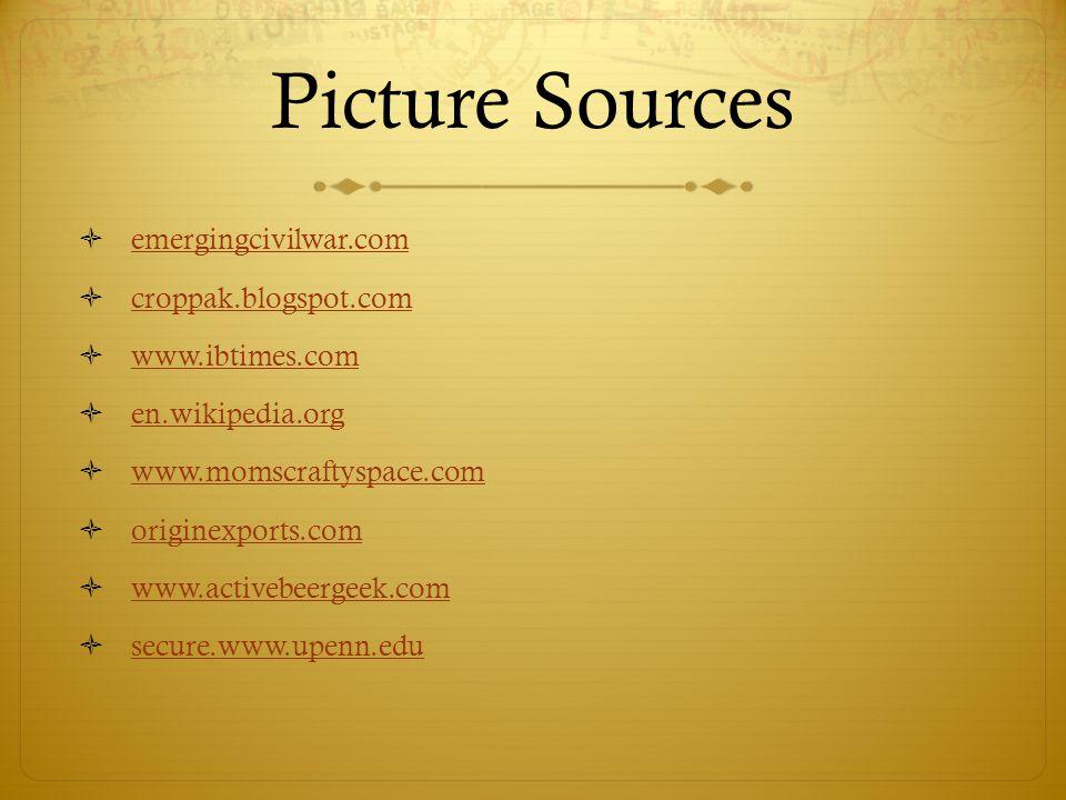 Picture Sources emergingcivilwar.com croppak.blogspot.com