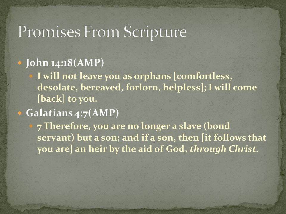 Promises From Scripture