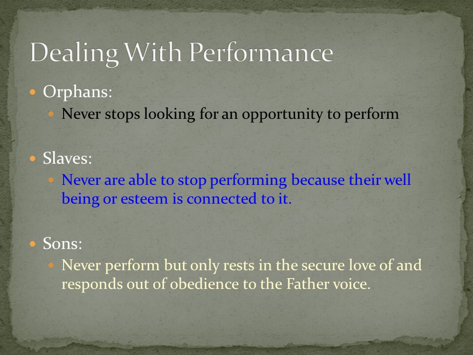Dealing With Performance