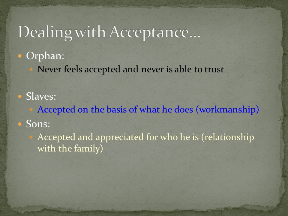 Dealing with Acceptance…