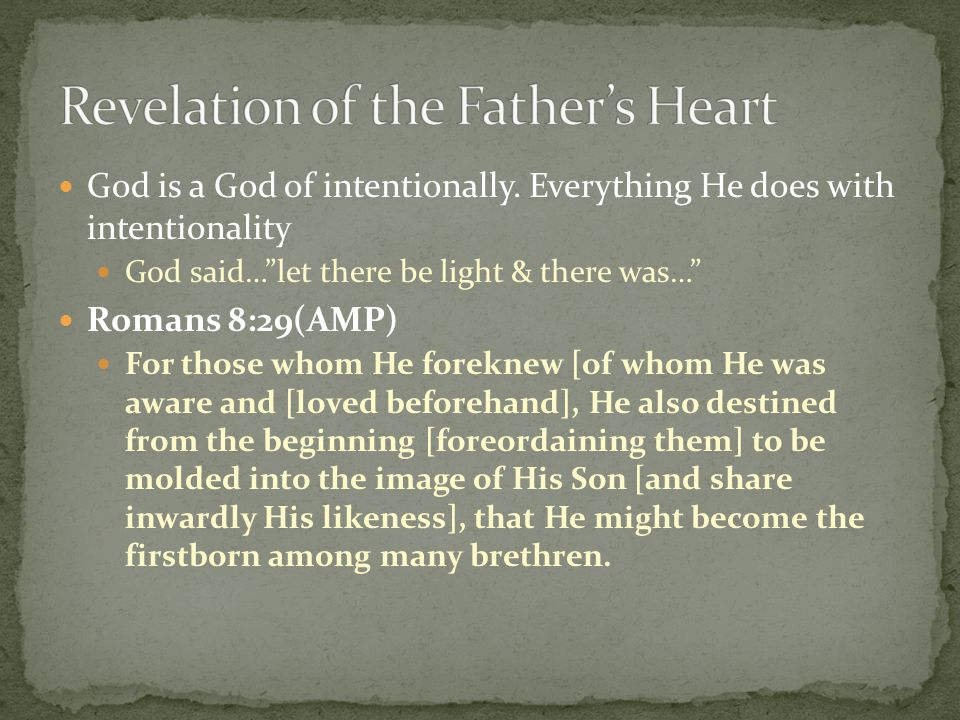 Revelation of the Father's Heart