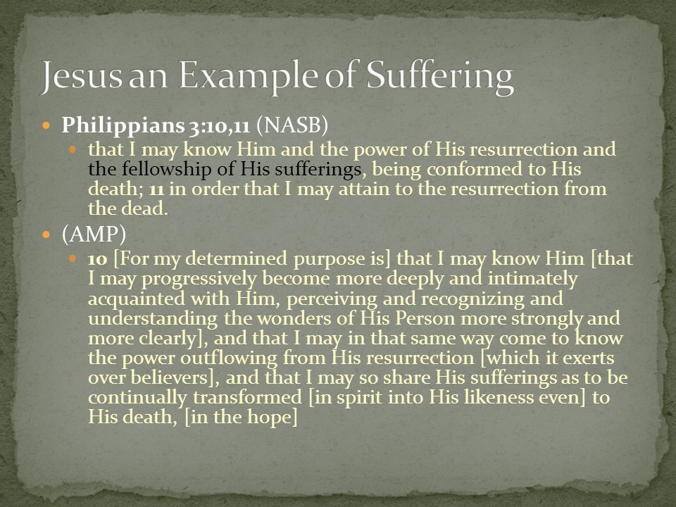 Jesus an Example of Suffering