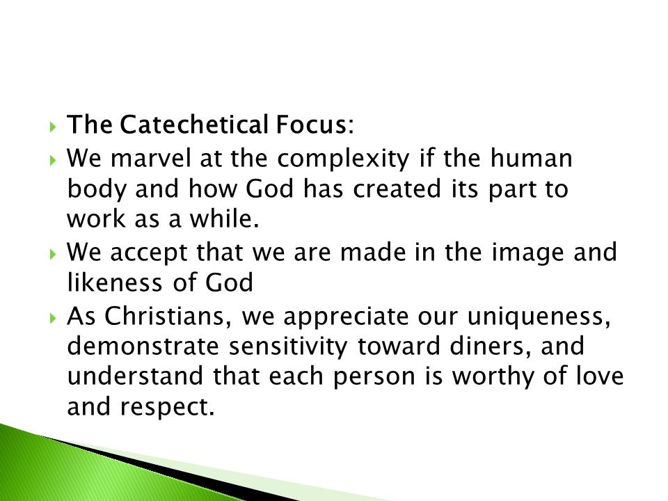The Catechetical Focus: