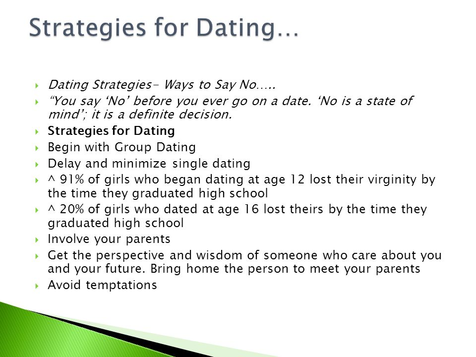 Strategies for Dating…