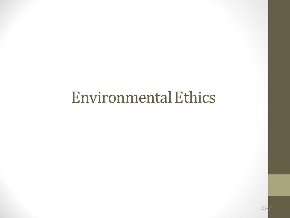 Environmental Ethics 21-19