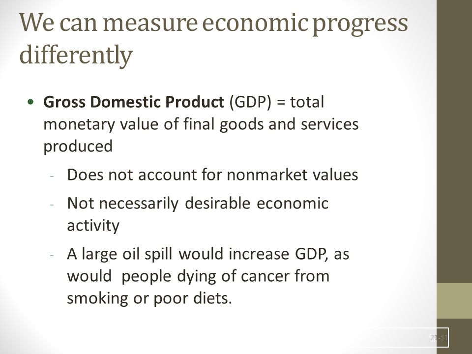 We can measure economic progress differently