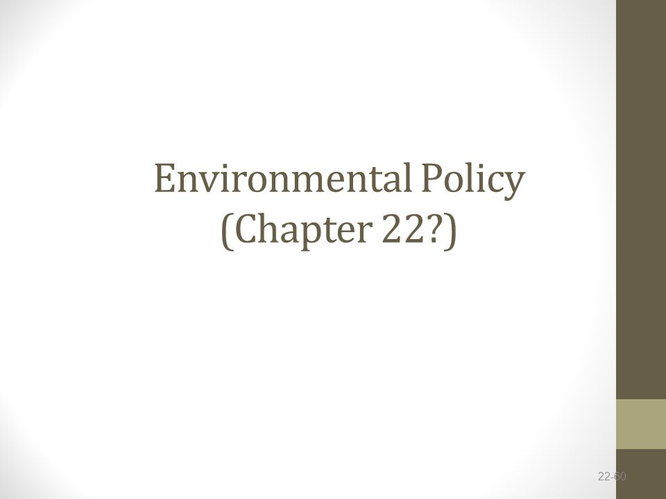 Environmental Policy (Chapter 22 )
