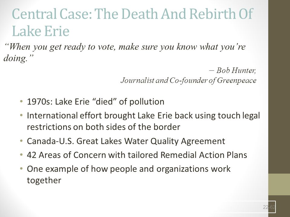 Central Case: The Death And Rebirth Of Lake Erie