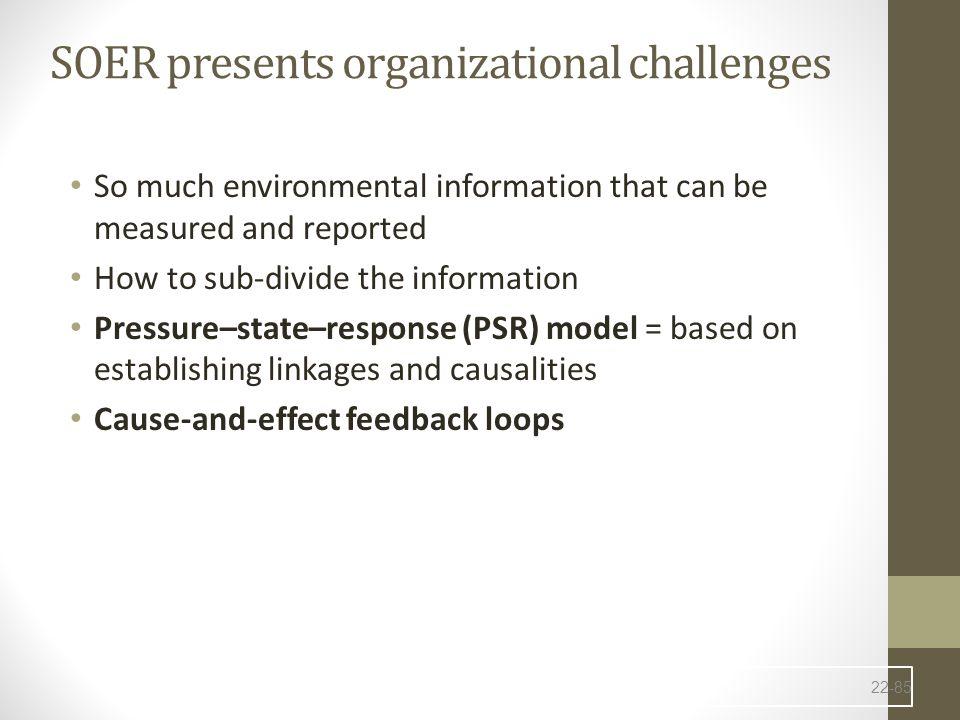 SOER presents organizational challenges