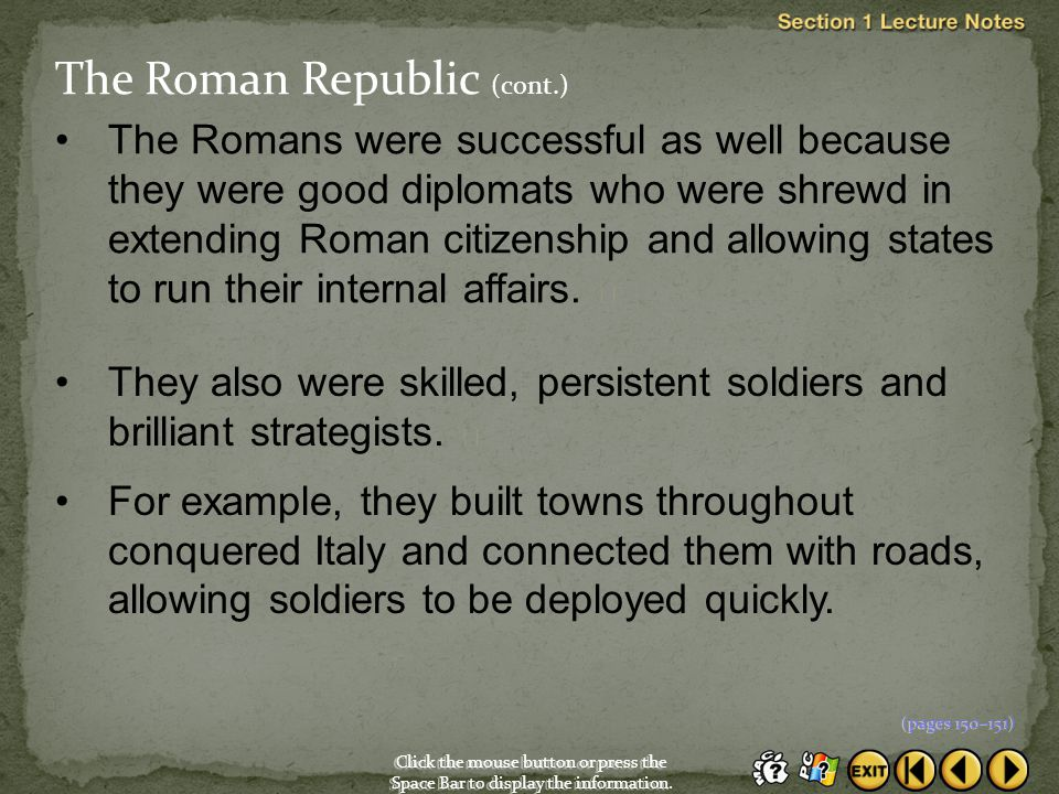 The Roman Republic (cont.)