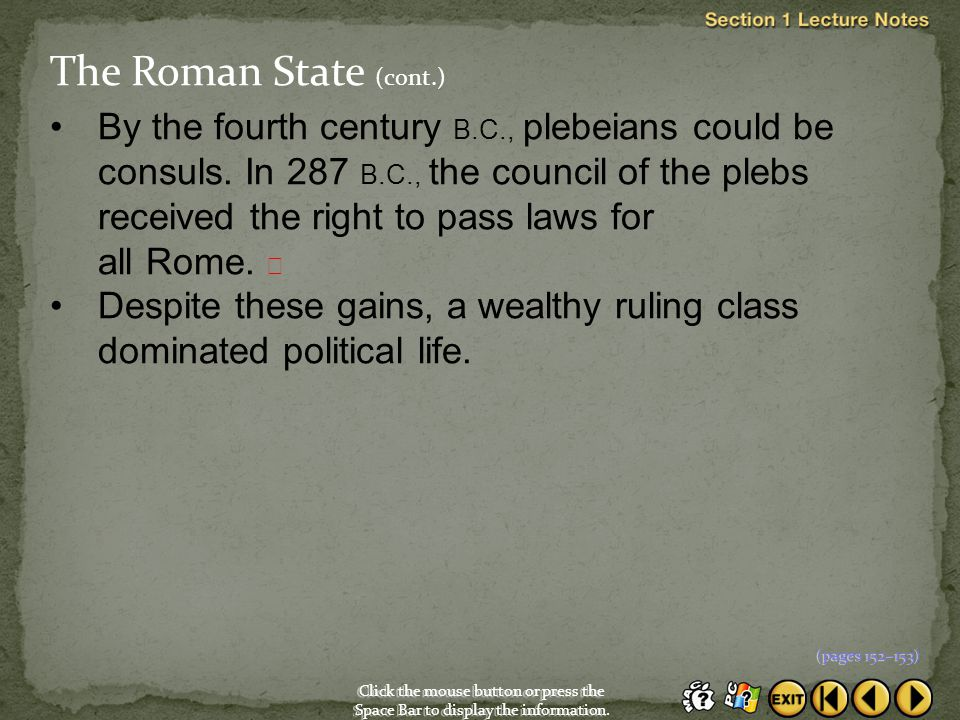 The Roman State (cont.)