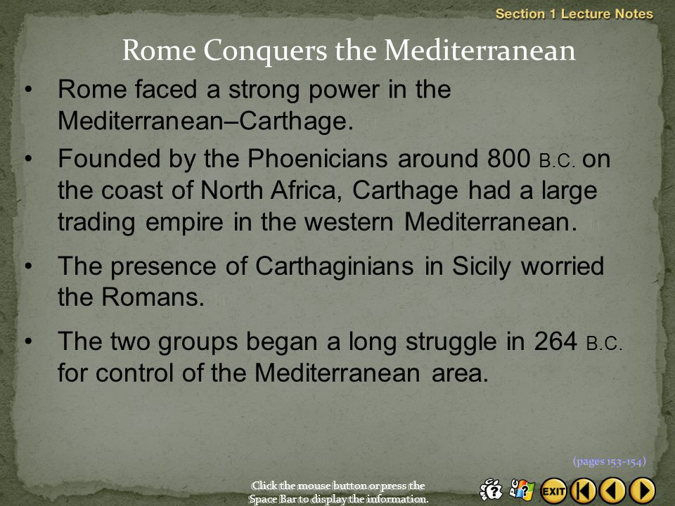 Rome Conquers the Mediterranean