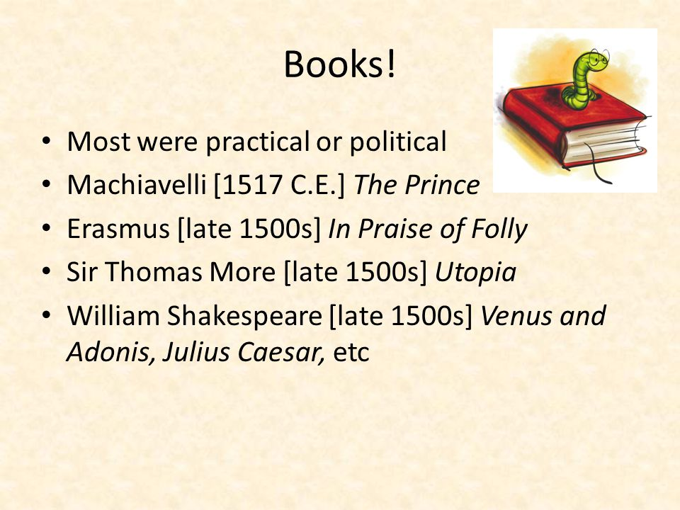 Books! Most were practical or political