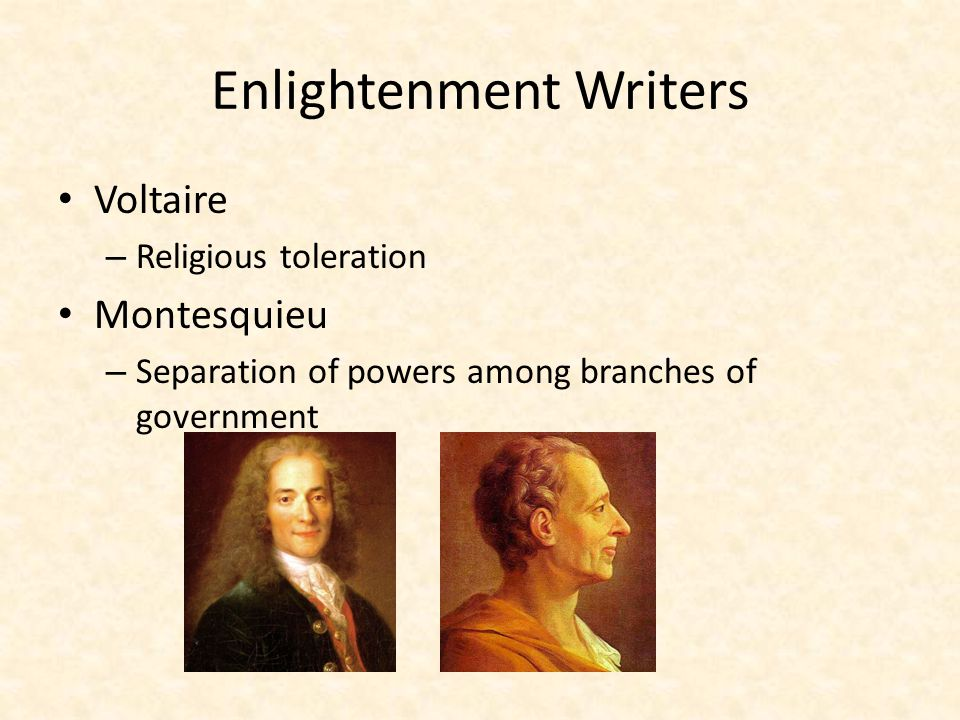 Enlightenment Writers