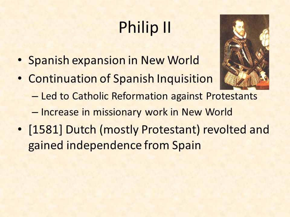 Philip II Spanish expansion in New World