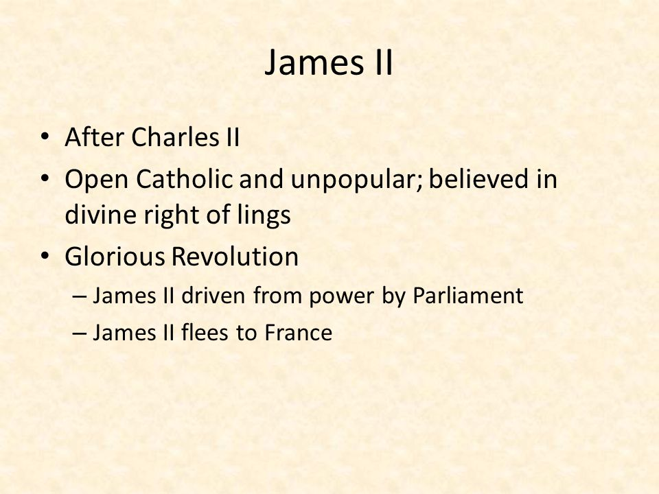 James II After Charles II