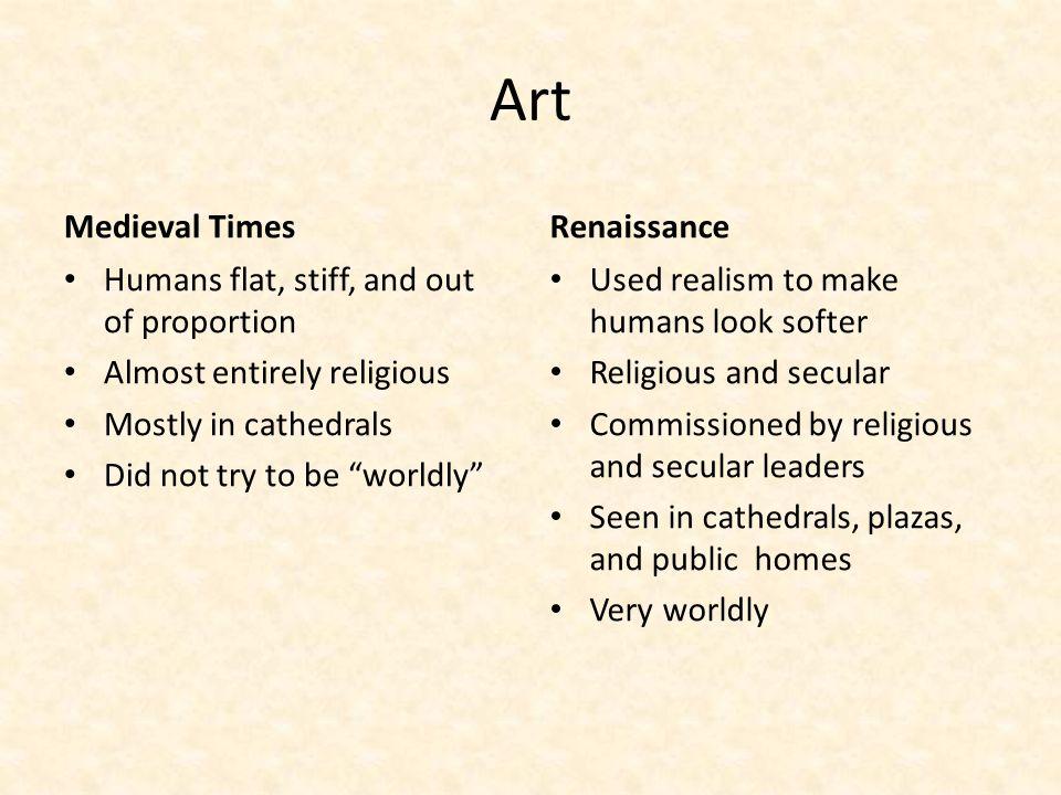 Art Medieval Times Renaissance
